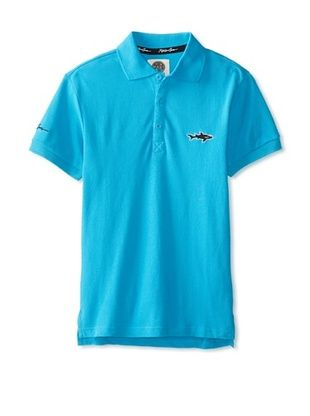 43% OFF Maui & Sons Men's Straight Shark Solid Polo (Blue)