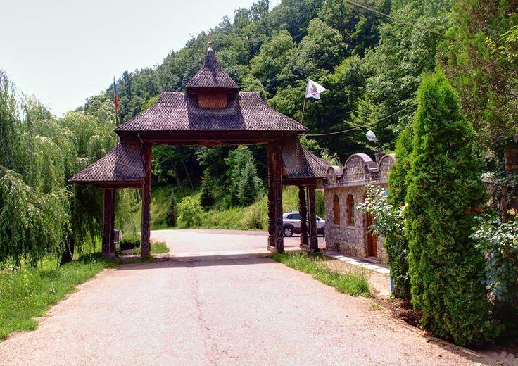 Entrance gate at Crisan Monastery in Hunedoara county.