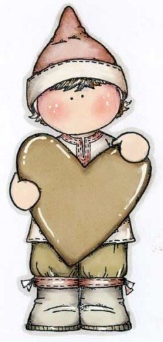 menino segurando coração