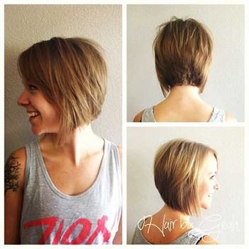 Short angled haircut