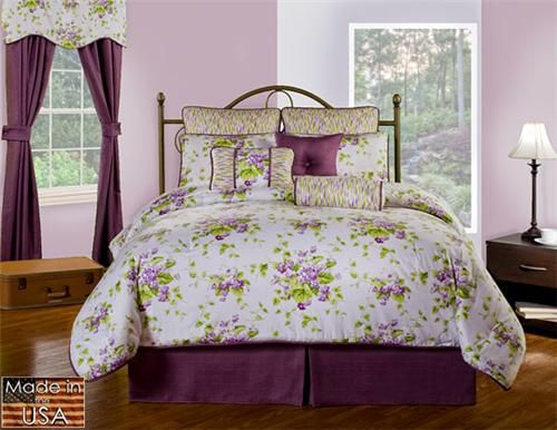 Sweet Violets by Waverly Bedding Set - The Charming Home Store Starts at $249.95 Available sizes: Twin, Full, Queen, King, CalKing