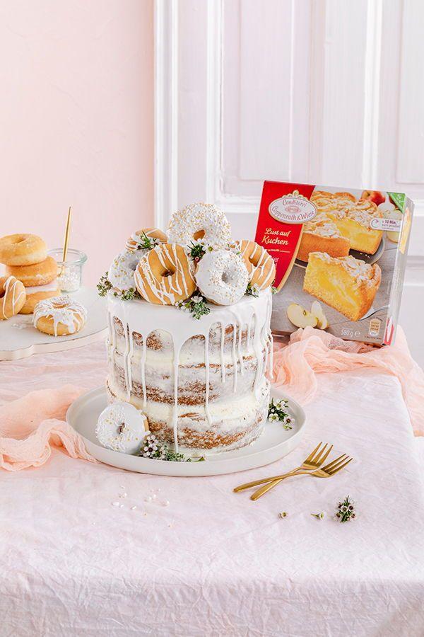 Donut Torte Ganz Ohne Backen Kuchen Und Torten Torte Kindergeburtstag Einfach Kuchen Und Torten Rezepte