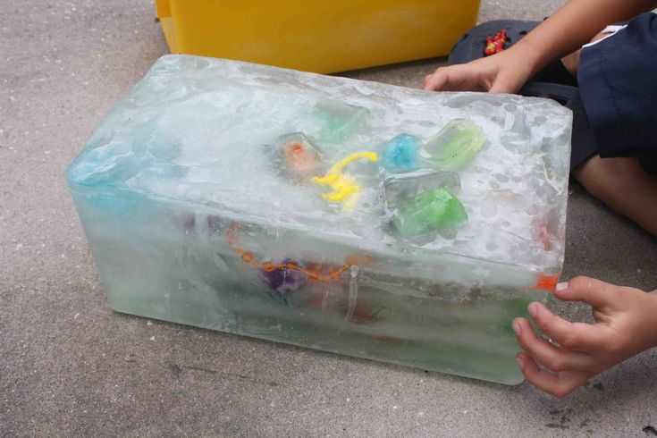 Ice Block Treasure Hunt | Macaroni Kid