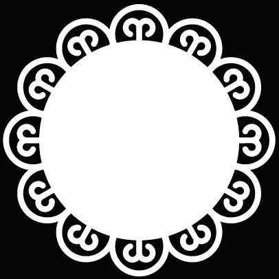 Decorative Circle Frame 1 by Bird