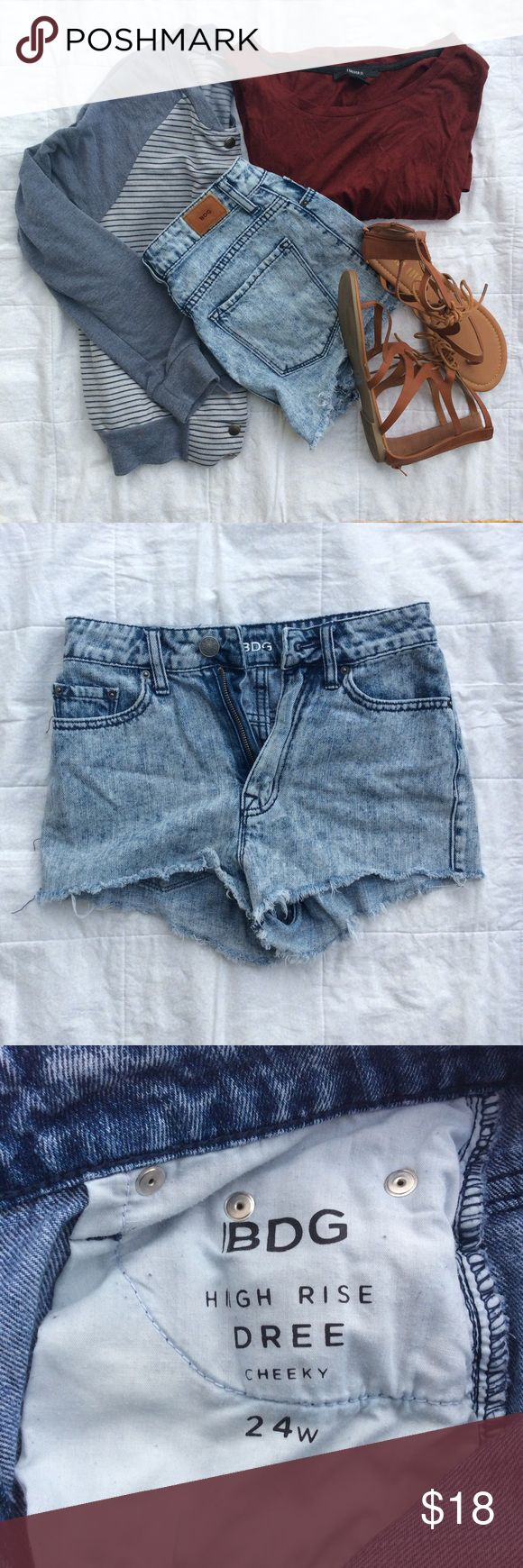 Urban Outfitters BDG High Rise Acid Wash Shorts High rise acid wash shorts from BDG sold at Urban Outfitters. Great condition. Size 24 W. Urban Outfitters Shorts Jean Shorts