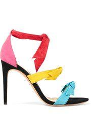 Sandales à talons en daim ornées de nœuds Lolita