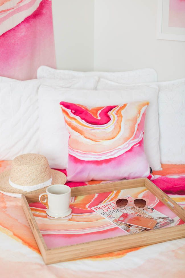 Pink Agate - Dorm Decor