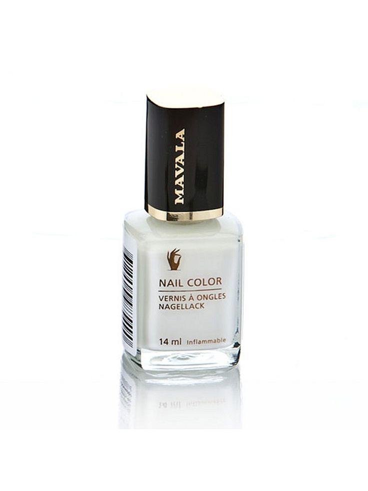 Лак для ногтей профессиональный White Mavala. Цвет белый.