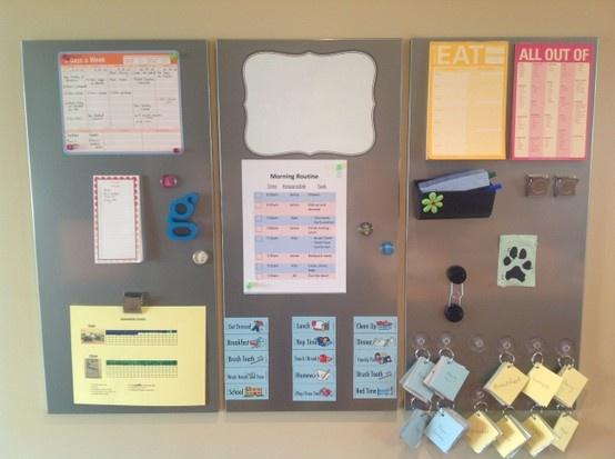 ikea magnetic board australia hack command center finally boards for kitchen