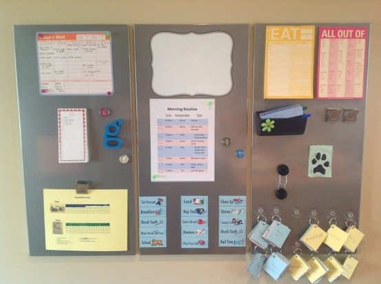 Command center i finally got it made ikea magnetic for Magnetic board for kids ikea