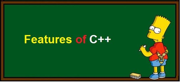 Features of C++ it is object oriented programming language