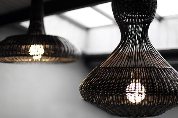 lamps MUSHROOMS The presence of nature is currently the priority, because it gives people peace of mind with its independence and the cyclic nature. Impact to these design objects and the material also has to look in nature.The used material of lamp manufacture - wicker, emphasize their unconventional appearance. The use of this material in design is the combination of an ancient tradition and contemporary. Local material and the acquisition of it do not cause any harm to the environment.