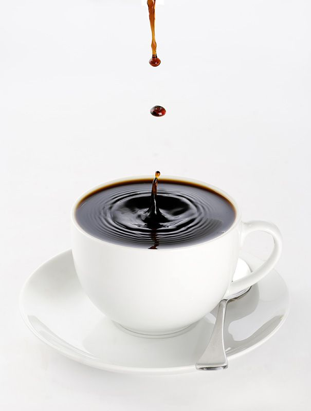 Free Pouring Cup of Coffee Image