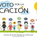 Ayuda en Acción. Campaña Mundial por la Educación 'Yo voto por la educación ¿y tú?'