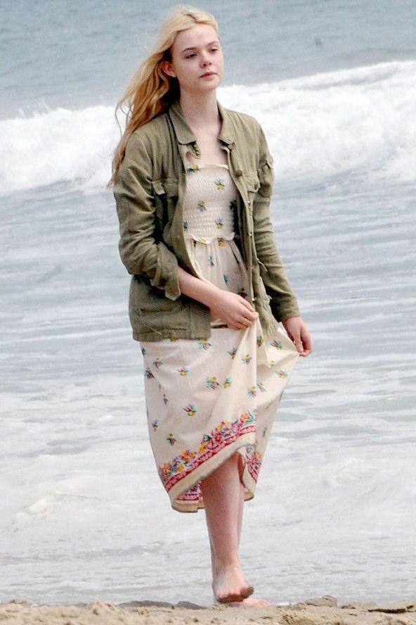 elle fanning beach | Elle Fanning on the beach in Santa Monica - celebrity fashion (Glamour ...