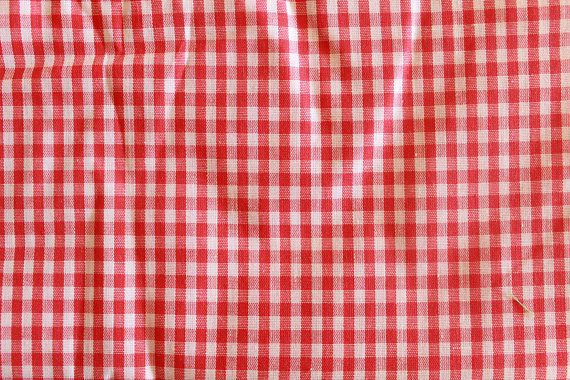 Picnic Tablecloth Gngham Vintage Sewing Fabric Gingham