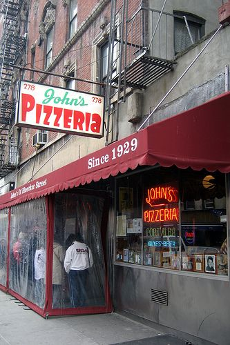 """Not as good as it used to be; still """"no slices.""""  I bet they do today - boy do I miss NY Pizza, Pesach ben Schlomo"""