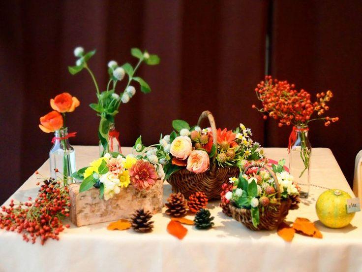 秋テーブル装飾01.jpg 800×600 ピクセル