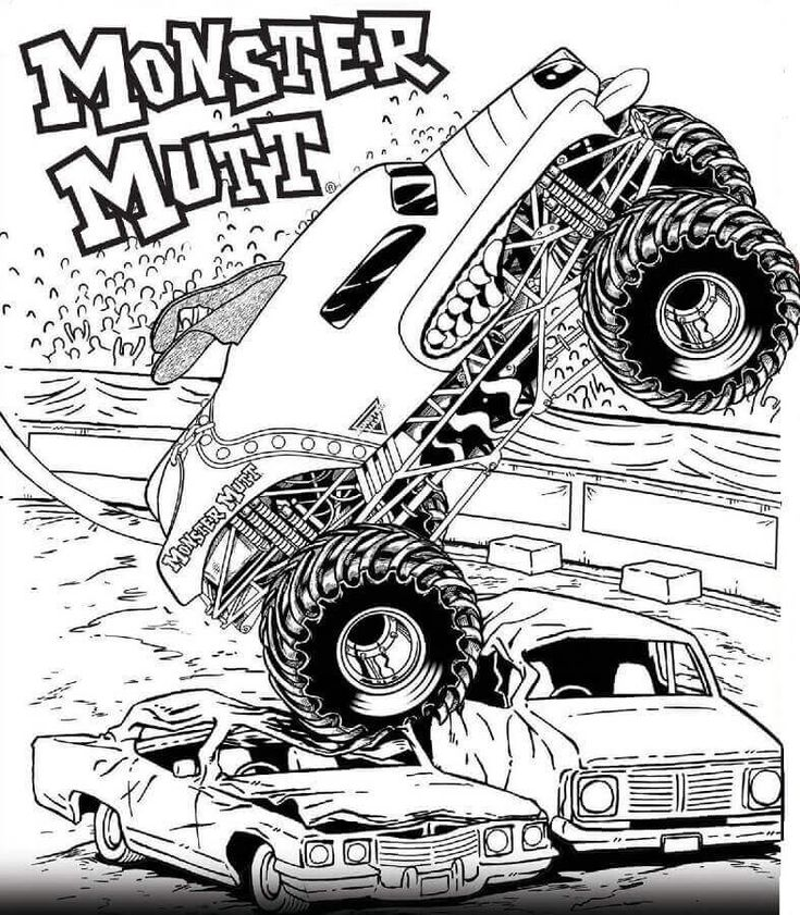 Free Printable Monster Jam Coloring Pages Monster Mutt ...