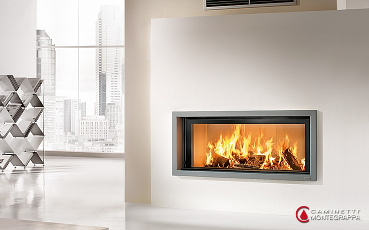 Fiamma / Caminetti Montegrappa Light 06 / wood burning fireplace