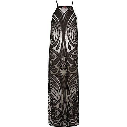 Black lace cover-up maxi dress $50.00