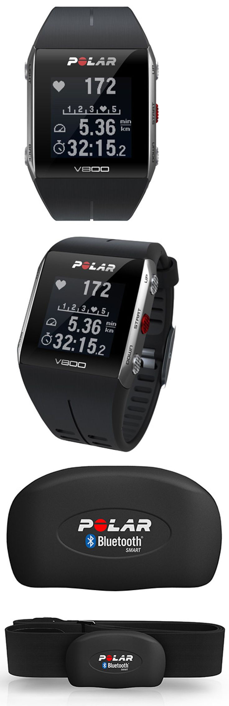 Heart Rate Monitors 15277: Polar V800 Gps Sports Watch Heart Rate Monitor Black 90060768 -> BUY IT NOW ONLY: $449 on eBay!