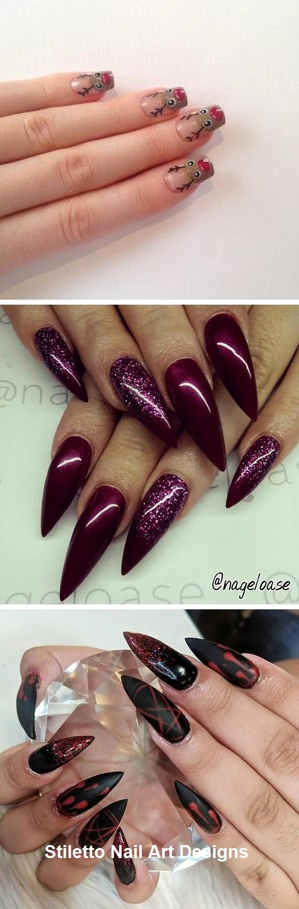 30 große Stiletto Nail Art Design-Ideen #nailart – Nails……