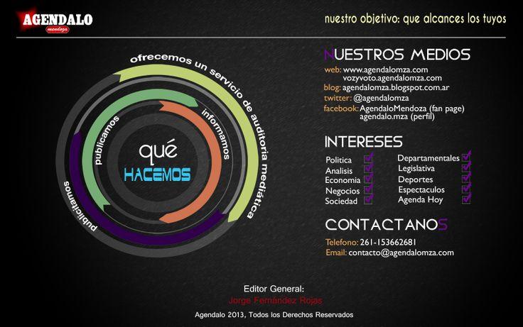 A qué nos dedicamos? Esto es lo que hacemos. http://www.agendalomza.com/