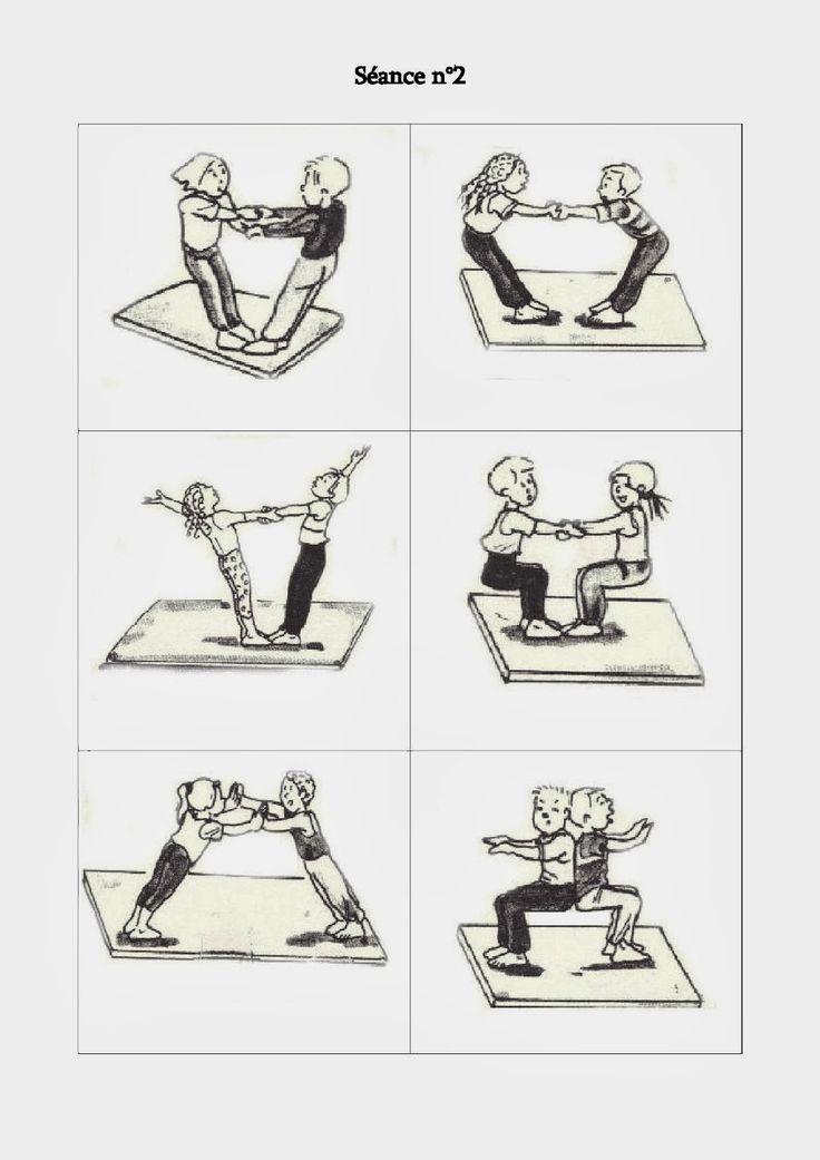 L'acrosport... activité qui travaille beaucoup de choses : schéma corporel, équilibre, coordination, coopération... Génial!