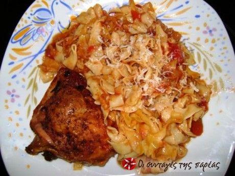 Κοτόπουλο με χυλοπίτες στο φούρνο     ..IN GREEK