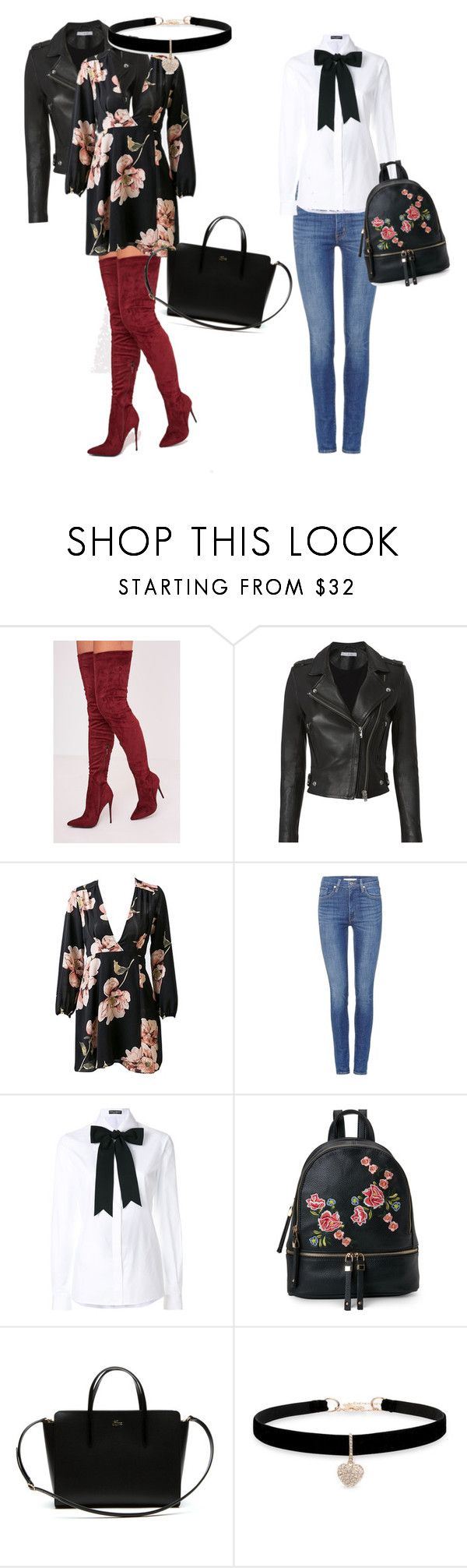 """Botas xl Rojas"" by zoilashopper on Polyvore featuring IRO, Levi's, Dolce&Gabbana, Urban Expressions, Lacoste and Betsey Johnson"