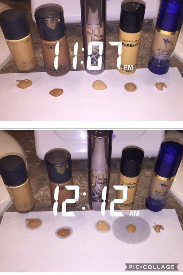 Different than the Lipsense posts, but worth the share! This is Senegence Makesense foundation compared to other top brands. The amount of oil produced in an hour is crazy!