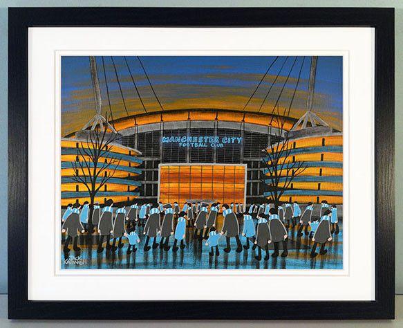 MANCHESTER CITY - City of Manchester Stadium framed print
