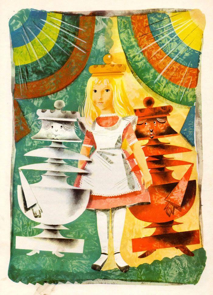 Leonard Weisgard's Stunning 1949 Alice in Wonderland Illustrations   Brain PickingsRabbit Hole, Wonderland Illustration, 1949 Alice, Vintage Wardrobe, Alice In Wonderland, Leonardweisgard, Wonderland 1949, Leonard Weisgard, Lewis Carroll