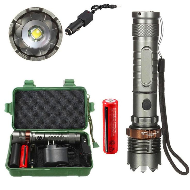 accesorios bicicleta  8000Lm T6 LED Flashlight Torch Zoomable Tactical + 18650 Charger Box accesorios bicicleta 170725 P30 #Affiliate