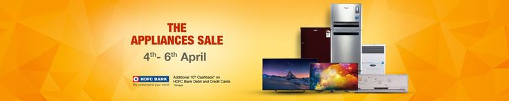 Amazon 4-6 April The Appliance Sale Offer : Amazon 4-6 April Offers and Deals