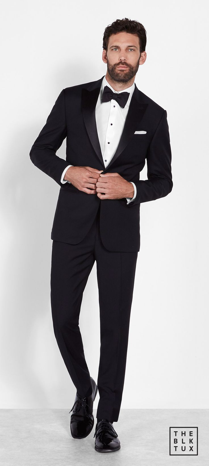 the black tux 2017 online tuxedos rental service the peak lapel tuxedo groommen best man style -- Suit Up in Style, The Black Tux Way
