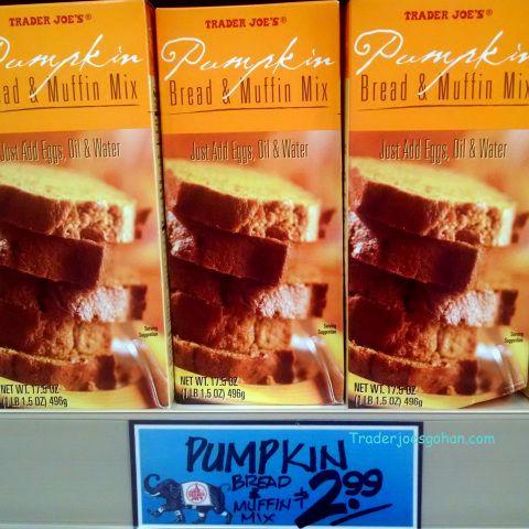 Trader Joe's Pumpkin Bread and Muffin Mix 17.5 ounce box for $2.99 トレーダージョーズ パンプキンブレッド アンド マフィンミックス