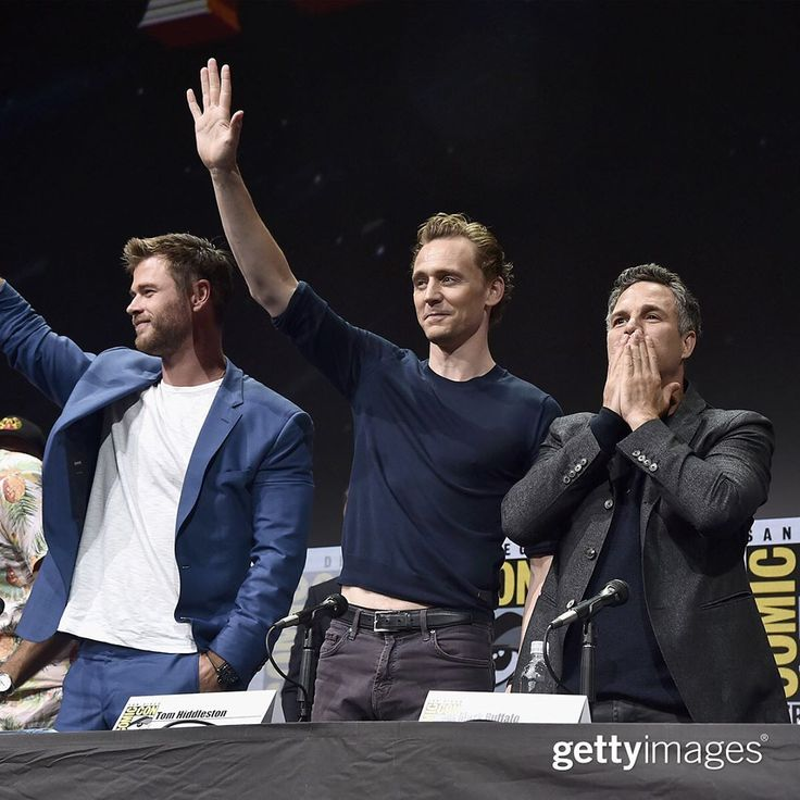 "Catch up on the biggest entertainment stories from the weekend: gettyentertainmentCatch up on the biggest entertainment stories from the weekend: Chris Hemsworth, Tom Hiddleston and Mark Ruffalo attending Thor: Ragnarok Presentation during Comic Con"" (https://www.instagram.com/p/BW7b7KajOYz/ )"
