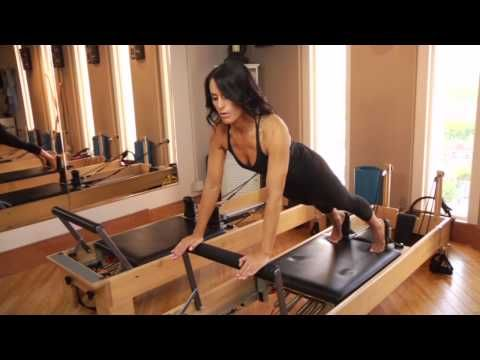 ▶ How to Get Rid of Muffin Tops With Pilates Machines : Getting in Great Shape - YouTube