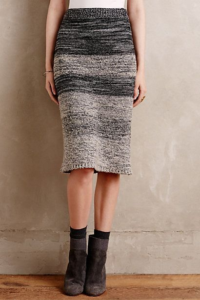 Sweaterknit Pencil Skirt #anthropologie