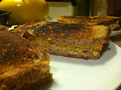 Tempeh Tuna Melt Sandwiches via Vegan=Yummy
