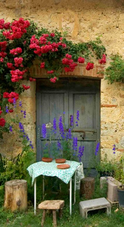 Quaint al fresco dining in Tuscany, Italy ᘡղbᘠ