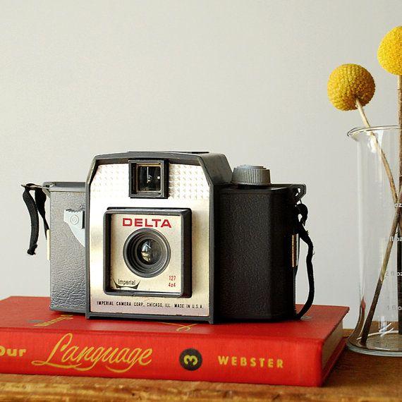 Vintage Imperial Camera  Delta 127 4x4 Film Camera Grey by vint, $26.00
