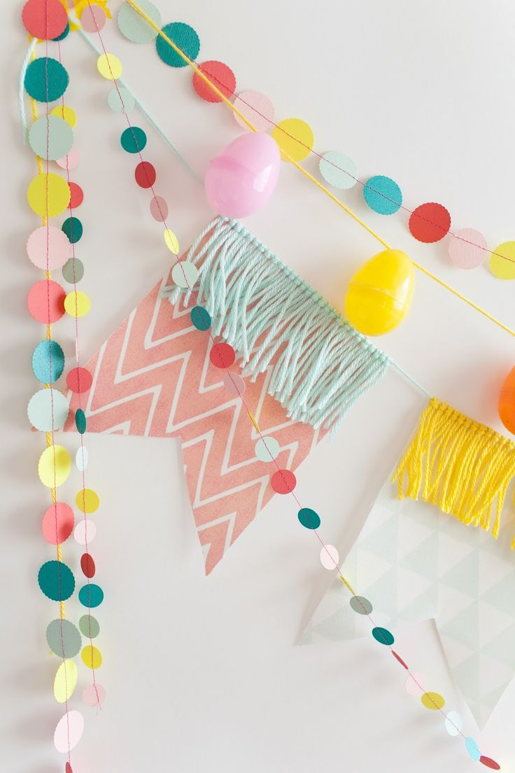 Easy sew DIY party garlands