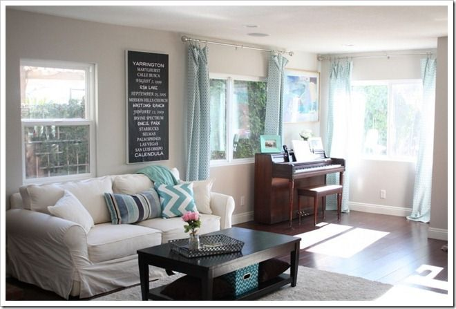 Pretty Living Room Makeover Love The Gray Paint And