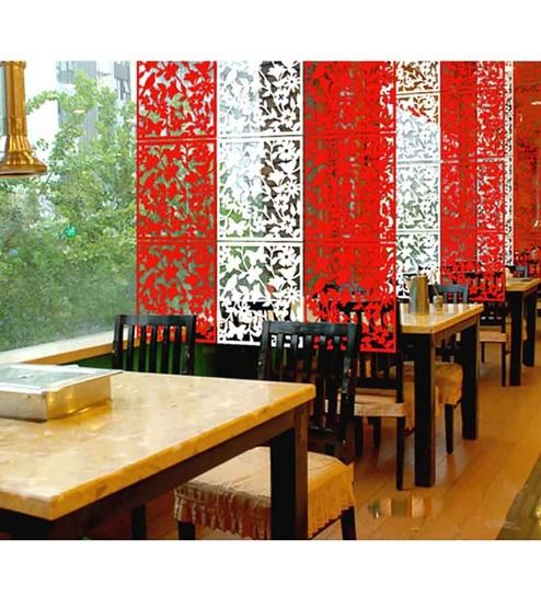 Imposing Partition Kitchen Dining lovely partition kitchen dining regarding kitchen Planet Decor Red Acrylic Floral Galore Room Divider
