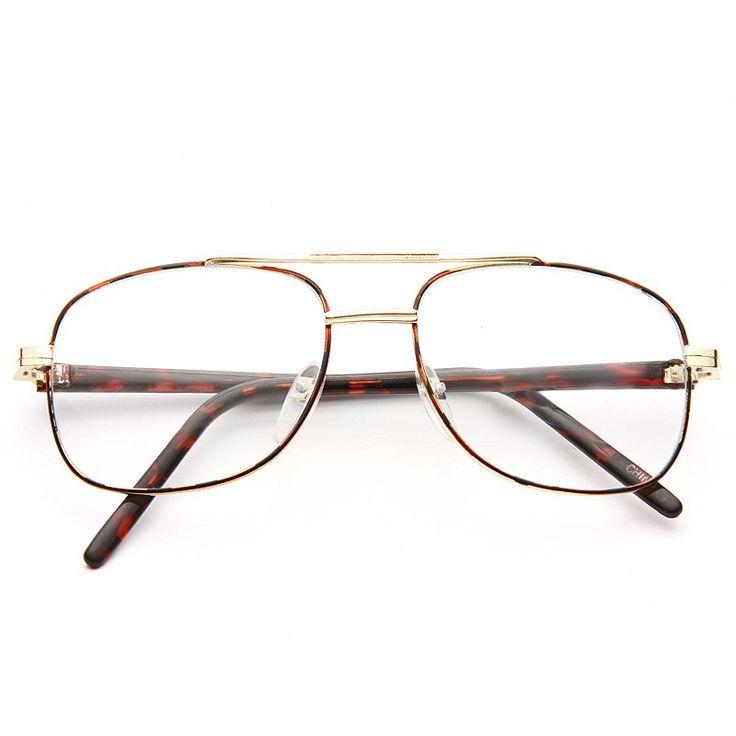 Clear Aviator Glasses   Highgate Vintage Clear Aviator Glasses     BleuDame.com
