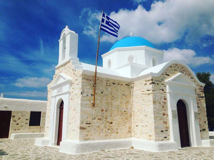 Lovely church in Paros ⛪️ ______________________________   #parosadventures #paros #church #greekchurch #blueandwhite #islandlife #greece #summer2017 #ortodox #discover #cyclades