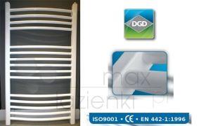 DGD grzejnik łazienkowy biały 1200x550 mm